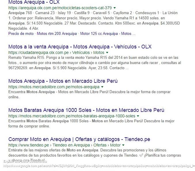 resultados de google motos