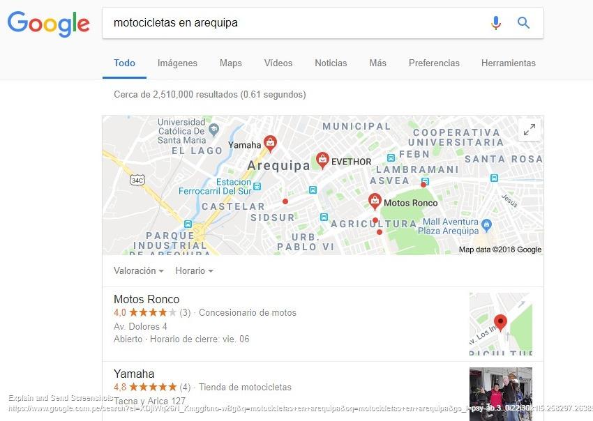 venta de motos en google