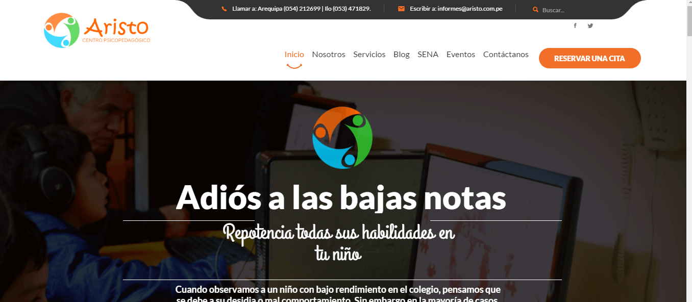 pagina web Aristo