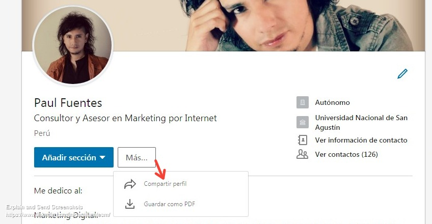 compartir perfil linkedin