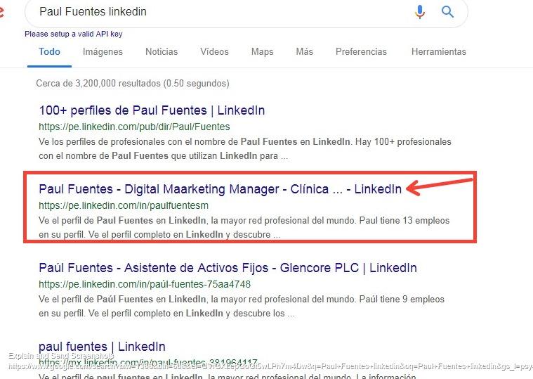 aparecer en google y linkedin