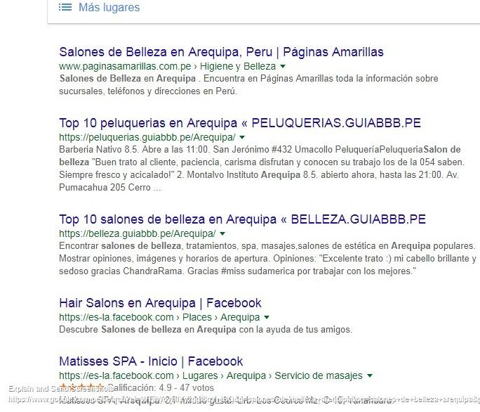 resultados organicos google